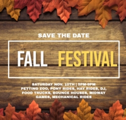 Fall Festival is coming!!!!!