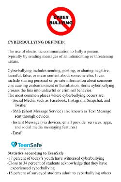 Important CyberBullying Info